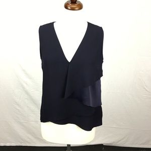 Ted Baker Navy Mayye Sleeveless Blouse